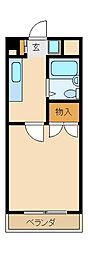 サンシティーカネイNo3[3階]の間取り