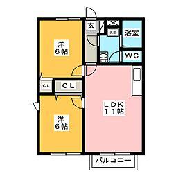 パディ ハウス三浦 A[1階]の間取り