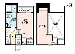 福岡県福岡市早良区野芥3丁目の賃貸アパートの間取り