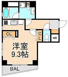東京都台東区浅草3丁目の賃貸マンションの間取り