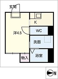N95[3階]の間取り