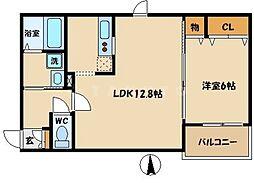 ソーシャブル新森[3階]の間取り
