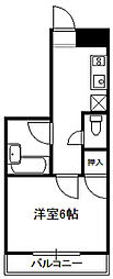 イングマンション[202号室]の間取り