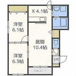 グランメール栄通20B[4階]の間取り