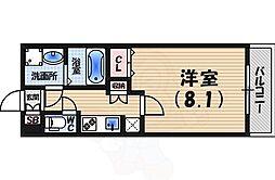 阪急今津線 甲東園駅 徒歩9分の賃貸マンション 2階1Kの間取り
