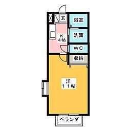 メゾンレトワール[1階]の間取り