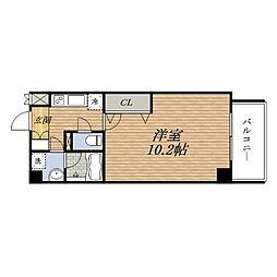 アスリート江坂II番館[5階]の間取り