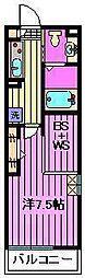 ベルビュー[302号室]の間取り
