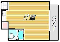 東京都世田谷区梅丘2丁目の賃貸マンションの間取り