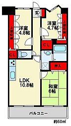 三愛シティライフ春日5[6階]の間取り