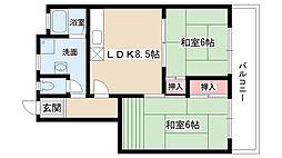 愛知県長久手市長配1丁目の賃貸アパートの間取り