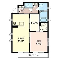 メゾンN・S[1階]の間取り