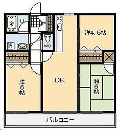 エスポワール宮崎県庁通り[9号室]の間取り