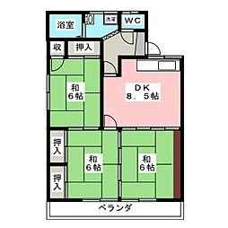 ケヤキハイツ[2階]の間取り