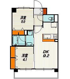 エステムプラザ京都聚楽第雅邸[4階]の間取り