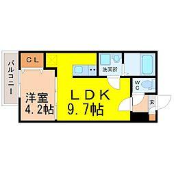 愛知県名古屋市熱田区桜田町の賃貸アパートの間取り