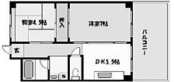 エイコーマンション[202号室]の間取り