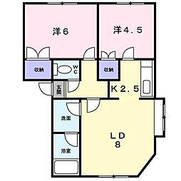 プラドール伏籠壱番館[2階]の間取り