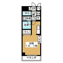 ノヴェル新栄[2階]の間取り