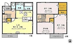 [タウンハウス] 長野県長野市上松4丁目 の賃貸【長野県 / 長野市】の間取り
