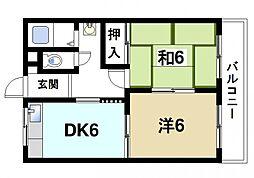 東有紀マンション[2階]の間取り