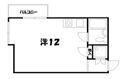 ロイヤルプラザ御幸町[5階]の間取り