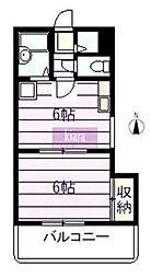 コーケン井土ヶ谷壱番館[2階]の間取り