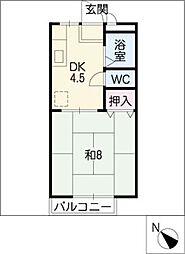 Kハウス大池[1階]の間取り
