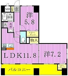 東京都足立区江北5丁目の賃貸マンションの間取り