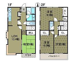 [テラスハウス] 東京都町田市成瀬1丁目 の賃貸【/】の間取り
