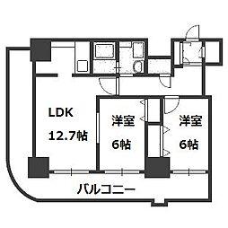 ティアラタワー中島倶楽部(III)[28階]の間取り