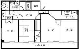 DIVINE西浦和[4階]の間取り