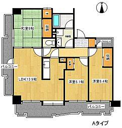 インシュランスビル9[7階]の間取り