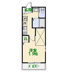 セレ堀切菖蒲園[2階]の間取り