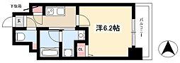 ディアレイシャス新栄 3階1Kの間取り