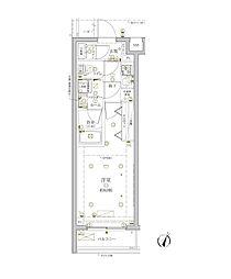 東急東横線 学芸大学駅 徒歩9分の賃貸マンション 2階1Kの間取り
