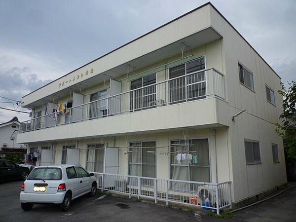 長野県佐久市臼田の賃貸アパートの外観