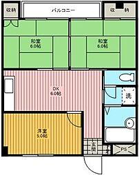椿マンション[102号室]の間取り