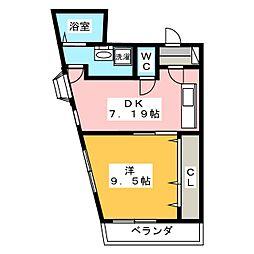 ワラヤビル[3階]の間取り