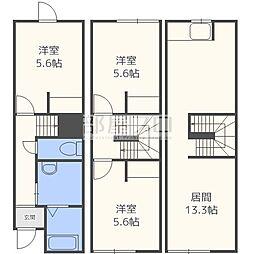 北海道札幌市東区北二十五条東3丁目の賃貸アパートの間取り