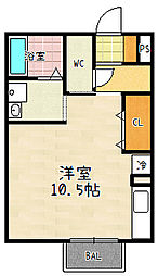 エポックシーマ[105号室]の間取り