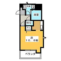 愛知県名古屋市天白区植田西3の賃貸マンションの間取り
