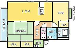 プランタン蔵 D棟[2階]の間取り