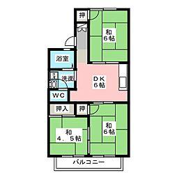 ファミールタウン[2階]の間取り