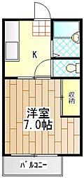 コーポニューリバー[2階]の間取り
