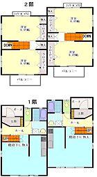 [タウンハウス] 静岡県袋井市愛野東1丁目 の賃貸【/】の間取り