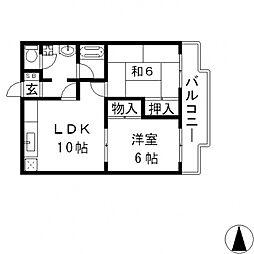 エルメゾン小阪[502号室号室]の間取り