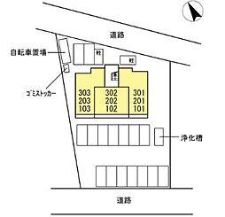 広島県福山市大門町大門の賃貸アパートの外観