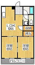 クレセント21[203号室]の間取り