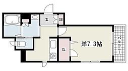 シャーメゾン岡本ヒルズA棟[103号室]の間取り